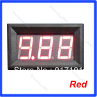 Free Shiping Red LED Digital Ammeter AMP Mini Current Panel Meter DC 0-9.99A
