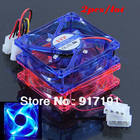 Free Shipping 2 Colors/lot 80 x 80 x 25mm 4 Pins Cooling CPU Heatsink Fans 4 LED Light for Computer PC Case