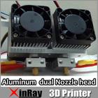 12V 0.2/0.3/0.4mm Nozzle Thermocouple Dual Nozzles 3D Printer Print Head/Extruder REPRAP Makerbot 3DA-001B Free Shipping