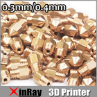 Free shipping 5pcs/lot 3D Printer Nozzle 0.3mm/0.4mm Extruder Print Head for MK8 Makerbot 3 D Pinter Machine Accessories 3DH-001