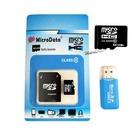 MicroData 64GB Memory Card 32GB Micro SD Card Class 10 16GB Flash Card Micro SDHC Microsd Adapter USB Reader