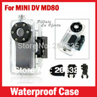 2014 Hot Sale Mini DV Hidden Car Camera,Mini Camera Sport,Waterproof Case for mini DV MD80 with strap,Waterproof box for MD80