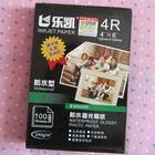 Free shipping high quality 4R size 240g waterproof glossy photo paper (100sheet/bag)