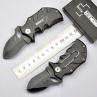 2pcs/lot Black Small rhino Camping Hunting Folding Knife Aluminum Handle EDC Knives Gift Free Shipping