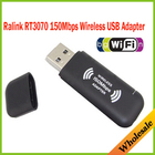 Brand New Ralink rt3070 150Mbps IEEE 802.11n Wireless Wifi USB Network Networking Lan Card Adapter,Wholesale Free Shipping