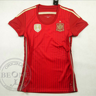 Women style Thailand quality 2014 World Cup Spain home soccer jersey Football shirt camisetas futbol jerseys Can print name