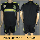 Thailand quality embroidery KIDS Spain 2014 World Cup Away Soccer jerseys Football uniforms Roupas de Crianca Can Customize