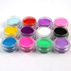 12 Pcs Mix Colors Acrylic Nail Art Dust Powder Decoration for Tips