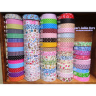 NEW printed chambray dots floral Fabric Tape / Cotton tape decorative Stationery office adhesive tape Free shipping