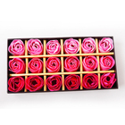Free Shipping 18pcs/pack High Quality Valentine Gift Cleaning Bath Rose Soap Wedding Favor Soap With Gift Box MR0093 A