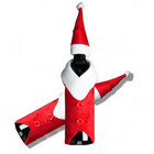 Hot Selling Christmas Santa Clause Clothing Wine Bottle Dress Up Covers with Hat Red Xmas Gift