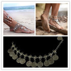 Bohemian Moon Lovers Turkish Coin Silver Antalya Anklet Gypsy Beachy Coachella
