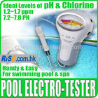 New Swimming Pool Water pH & 2 Level spa water quality monitor Chlorine Tester
