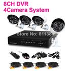 HDMI 8CH Home Security Network DVR Video Recorder Systems 4PCS 480TVL IR Outdoor Surveillance CCTV Camera Kits