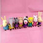 HOT 2014 NEW 19cm kawaii Peppa Pig friends 8pcs/lot High Quality Plush Soft Doll Stuffed Animals toys for kids grils gift