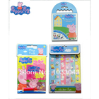 3Pcs/Lot Peppa pig crayon color suits + stickers +Peppa pig color pencil paint series to Educational toy for baby kid gift