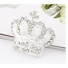 Fashion 2014 Costume Jewelry Rhinstone Crown Brooch Wholesale King Crystal Brooch Pins for Women