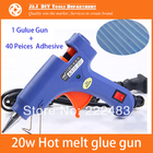 Free Shipping ! 20W Hot Melt Glue Gun with 40 Pieces Adhesive, Crafts Album Repair ,Toy Tools Kit