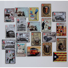 7Pieces 11*8cm Small tin painting, metal painting wall stickers fashion poster painting retro finishing linoleic acid