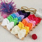 Flowers Accessories 24Pcs/Lot Infant Girl Toddler Colorful Chiffon Hair Bows Clips Decoration
