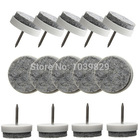 16pcs/lot DIY Table Chair Glide Slide Leg Pads Felt Nail Protector Pad Floor Skid Furniture Tool