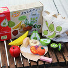 Free shipping, magnetic simulation fruit well, send to receive bag, house wooden Pretend Play