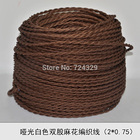 Edison brown knitted cloth electrical wire copper conductor electrical wire pendant light lamps line 10M Free shipping