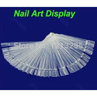 Y102 1Set/Lot Nail Art Display Practice Fan-shaped Polish False Tips