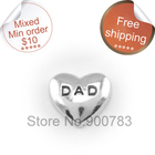 free shipping Floating charms,DAD charms,father day charms