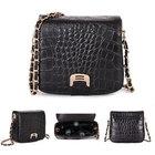 New European Fashion Crocodile Shoulder Bags Style Leather Women Chain Messenger Bags Crossbody Bolsas 0936
