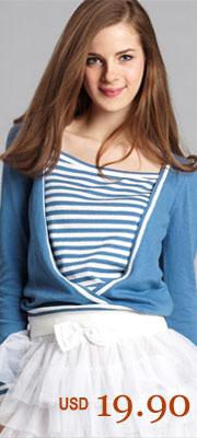 Layered Stripe Cardigan Blue SKU:35097