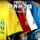 2014 Brazil World Cup football clothes souvenir t-shirts for men and women German Argentina, Italy and Spain