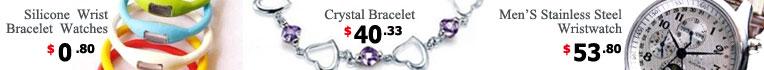 Wristwatch,Crystal Bracelet