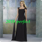 best  Free shipping chiffon voile lace embroider beads wedding prom evening gown bridemaids dress