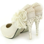2012 hot selling white lace Shoes wedding shoes birde shoes sandal shoes
