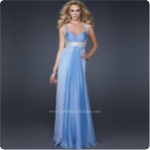 2012 Modest Spaghetti Sweetheart Floor-Length Sleeveless 17543 Chiffon Beading Prom Dress