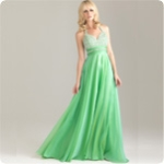 Classic Long Halter 2012 Prom Dresses 6420 Empire Beaded Chiffon  Floor-Length Brush Train