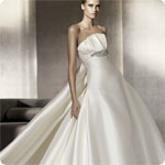 Custom-made 2012 Ivory Prom Strapless A-line  Floor-length Sleeveless Christmas Wedding Dresses/Prom Dresses/Bride Dresses/Party/Bridesmaid Dresses+Free Shipping+Any Size and colors_Sunny80 1150