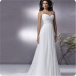 Wholesale - Style Preferred Price Chic Beaded Strap Floor Length Chiffon Bridal Gown Sleeveless Wedding Dresses