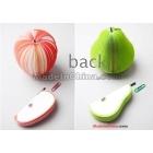 Wholesale - Fruit Notepad series apple / pear memo pads glazed printing paper real wood stem  hs2