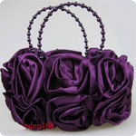 5pcs/lot Noble Wedding hand Bag Bridal Satin Rose Clutch Handbag Party Outfit women's Accessories Mixed colors
