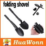 High quality Mini Multi-function Folding Shovel Survival Trowel Dibble Pick Camping Outdoor Tool