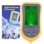freeshipping 6-in-1 Compass Thermometer Barometer Clock Weather Forcast Digital Altimeter