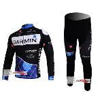 Free shipping  3 Winter long sleeve cycling jerseys+pants bike bicycle thermal fleeced wear set+Plush fabric