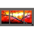Handmade Modern Abstract Oil Paintings Canvas Art size:12X24=2p,24X24=1p  038