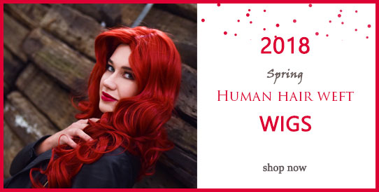 2018 spring human hair weft wigs