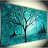Wholesale HUGE MODERN ART OIL PAINTING CANVAS FREE SHIPPING B22