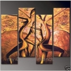 Handmade Modern Abstract Oil Paintings Canvas Art size:12X36=4p   017