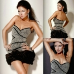 Free Shipping Hot Sale 2012 New Arrival  Shining Little  Beaded Discount Cocktail Dress